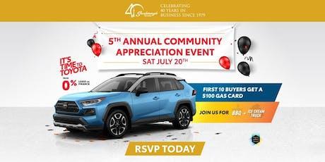 5th Annual Community Appreciation Event tickets