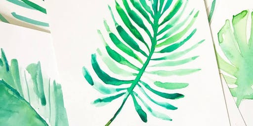 Watercolor and Wine: Painting Palms Workshop in Laguna Beach