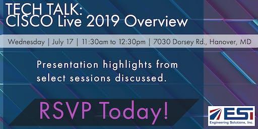 TECH TALK: CISCO Live 2019 Overview