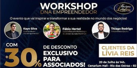 DNA Empreendedor Lívia Reis ingressos