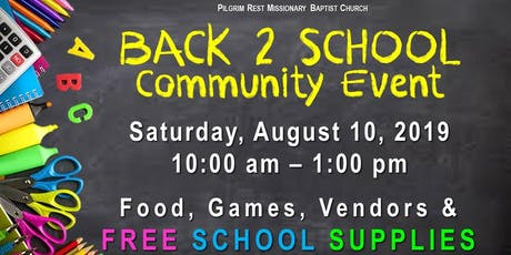 Back 2 School Community Event tickets
