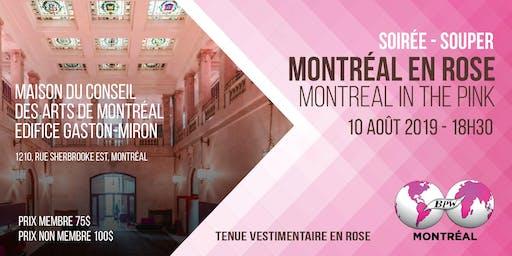 Montréal en Rose, Montréal in the  pink (  by                                                                                                                                                                                                     BPW MONTRÉAL)