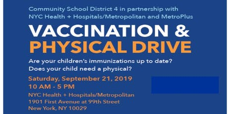 District 4 Back to School Vaccination & Physical Drive tickets