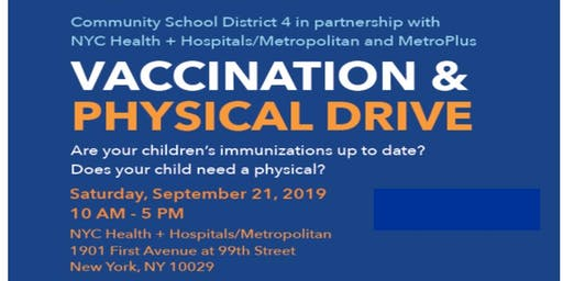 District 4 Back to School Vaccination & Physical Drive