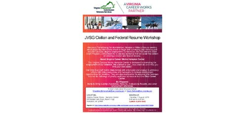 JVSG Civilian and Federal Resume Workshop tickets