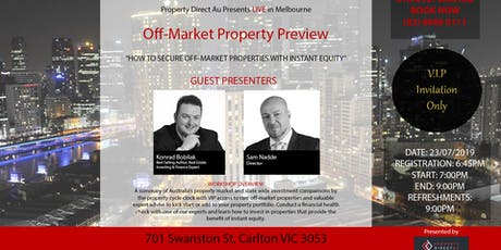 Off-Market Property Preview Night tickets