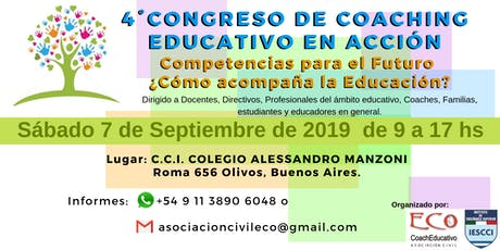 4° Congreso de Coaching Educativo en Acción entradas