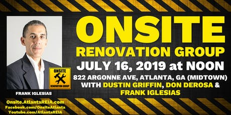 Onsite Renovation Group at Frank Iglesias's Midtown Atlanta New Construction Project tickets