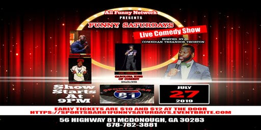 Comedy Show (Sports Bar 81 Mcdonough)