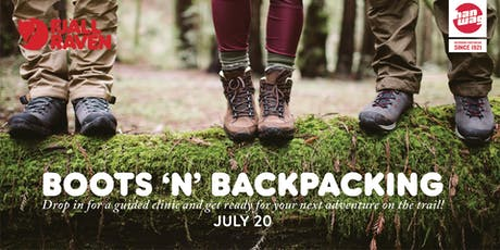 Boots N' Backpacking at Fjallraven Newbury! tickets