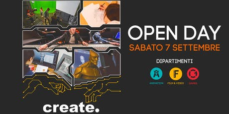 Open Day corsi Video, Games e Animation billets