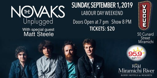 The Novaks - Unplugged! With Special Guest Matt Steele