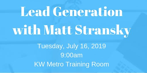 Lead Generation with Matt Stransky
