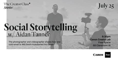 Social Storytelling w/Will Smith's Photographer & Videographer Aidan Tanner tickets