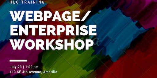 HLC Webpage/Enterprise Workshop