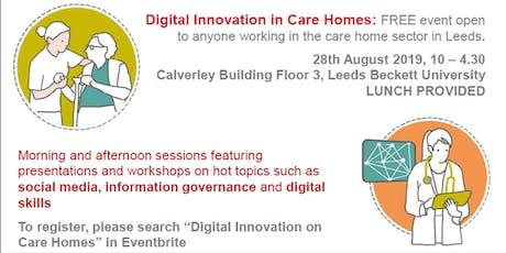 Digital Innovation in Care Homes tickets