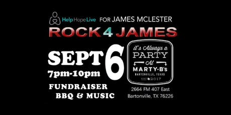 Help Hope Live Rock 4 James  South Central Kidney Fundraiser BBQ & Music  tickets
