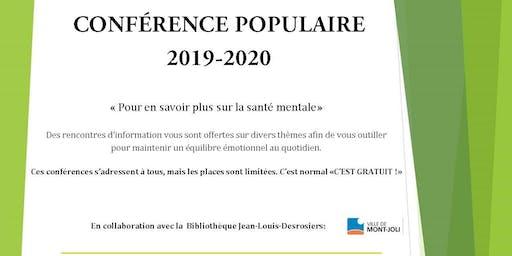 SMQ-BSL (Mont-Joli):Conférence populaire: Anxiété, sois mon invitée!