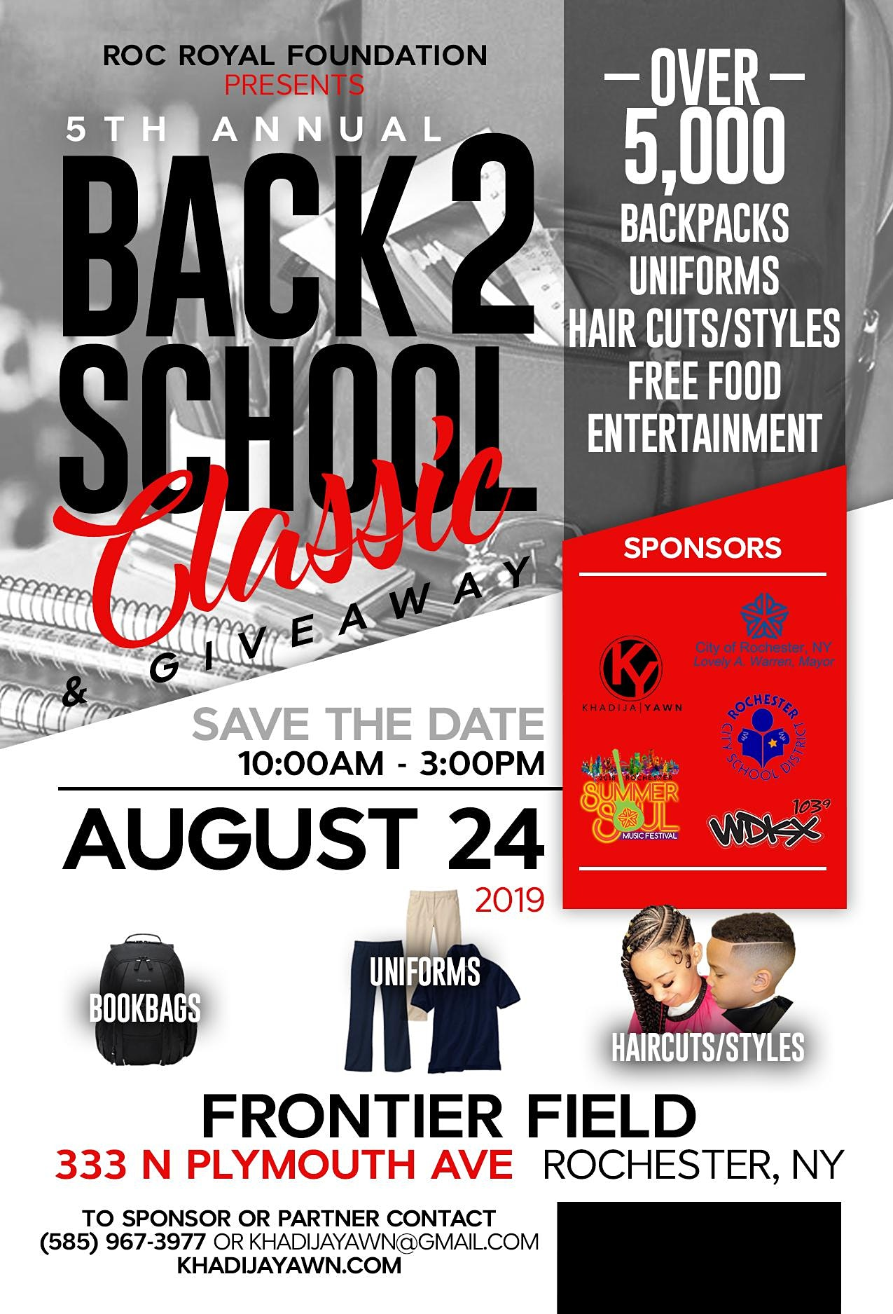 5TH ANNUAL BACK TO SCHOOL CLASSIC & GIVEAWAY  Image