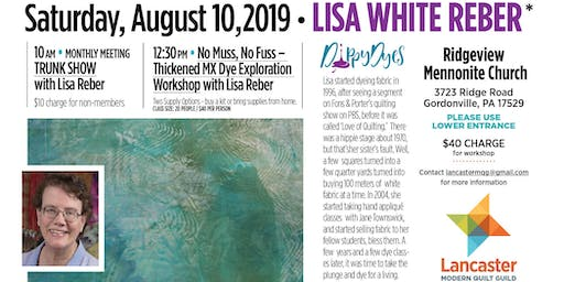 No Muss, No Fuss - Thickened MX Dye Exploration workshop with Lisa White Reber
