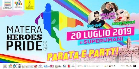 Matera Heroes Pride 2019 biglietti
