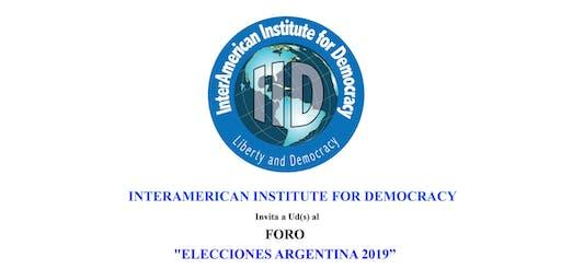 """FORO """"ELECCIONES ARGENTINA 2019"""""""