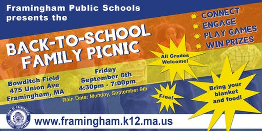 2019 Back To School Picnic
