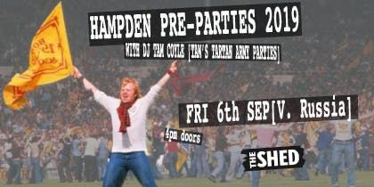 THE TARTAN ARMY HAMPDEN PRE-PARTY SCOTLAND V RUSSIA