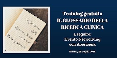 Training Gratuito a Milano: Il Glossario della Ricerca Clinica biglietti