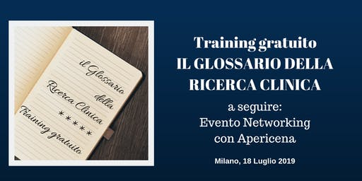 Training Gratuito a Milano: Il Glossario della Ricerca Clinica