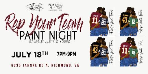Rep Your Team Paint Night-RVA
