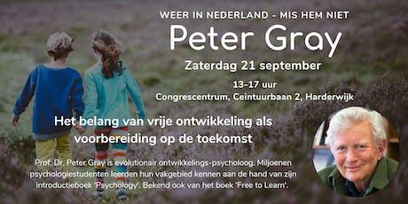 Seminar - onderwijs van de toekomst met Peter Gray tickets
