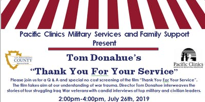 """""""Thank You For Your Service"""" Special Screening Event"""