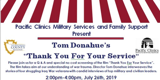 """Thank You For Your Service"" Special Screening Event"