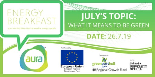 What Does It Mean To Be Green? Find out at the Energy Breakfast...