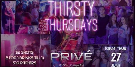 Thirsty Thursdays at Privé tickets