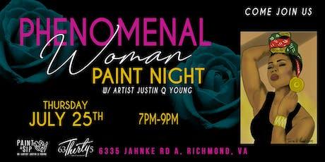 Phenomenal Woman Paint Night-RVA tickets