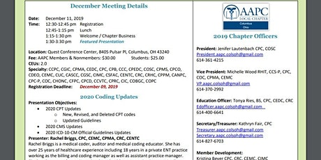 Aapc Columbus Ohio Chapter Events Eventbrite