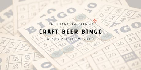 """Craft Beer Bingo"" tickets"