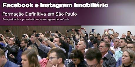 São Paulo: Facebook e Instagram Imobiliário DEFINITIVO ingressos