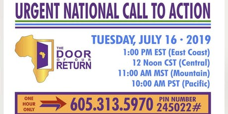 The Door Of Our Return: National Conference Call tickets