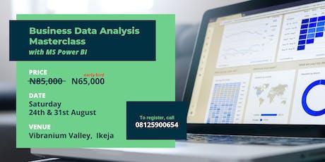 Business Data Analysis Masterclass with MS Power BI tickets