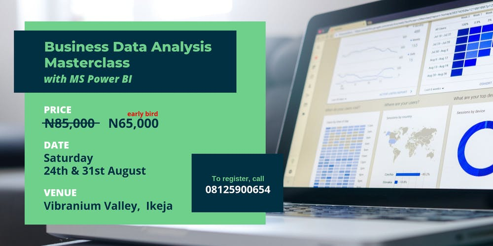 Business Data Analysis Masterclass with MS Power BI Tickets, Sat