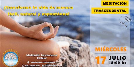 Castelar Miércoles 17 - Charla Informativa sobre Meditación Trascendental entradas