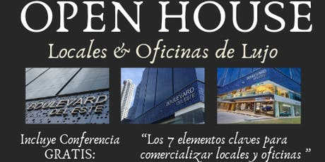 "Broker´s OPEN HOUSE "" Plaza Boulevard del Este "" Incluye CONFERENCIA  entradas"