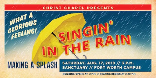 Singin' In the Rain - CCBC Musical on Saturday,  August 17 -  3:00 PM