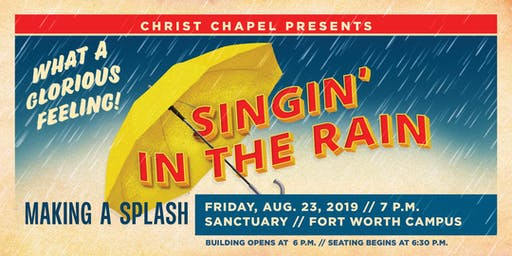 Singin' In the Rain - CCBC Musical on Friday,  August 23 -  7:00 PM