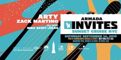 ARMADA Invites Sunset Cruise NYC: ARTY, Zack Martino tickets