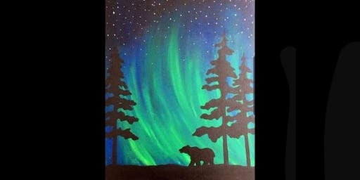 Northern Lights Bear Paint Night