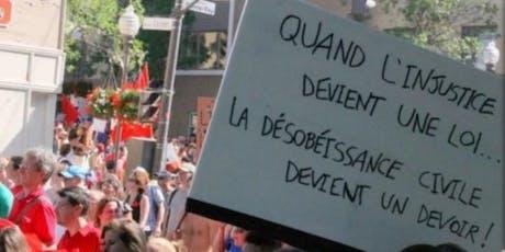 Formation Désobéissance civile Non violente billets